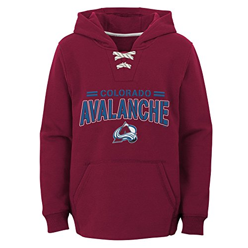 Outerstuff NHL Colorado Avalanche Youth Boys Standard Issue Fleece Hoodie, Small(4), Garnet