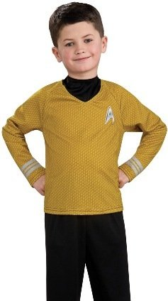 Star Trek Movie Child's Gold Shirt Costume with Dickie and Pants