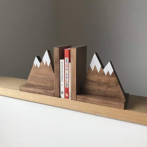 Rustic Mountain Bookends for Kids - Mountain Decor - The mountains are calling - Woodland Nursery Decor - Nursery Decor for Boys