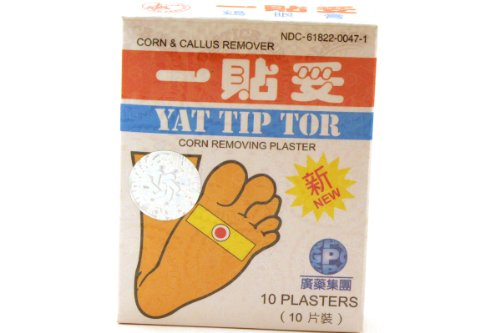 Yat Tip Tor Corn & Callus Removing Plaster - 10 Plasters/box, (Pack of 6) by Yu Lam