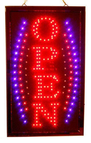 Awesome New Bright Vertical Animated Business LED Open Sign from IA_BIG