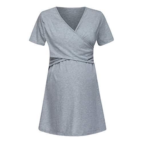 3301a8ff9 Ropa Embarazadas Vestido Premama Lactancia STRIR Vestido De Lactancia  Femenino con Correa Multi Funcional  Amazon.es  Ropa y accesorios