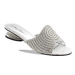 Rhinestones Low Heel Open Toe Sandals