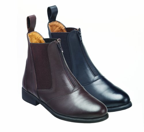 Boot Zip Black Leather Front Harry Hartford Jodhpur Hall 4a6a1