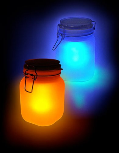 Moon Jar Solar Powered Lamp