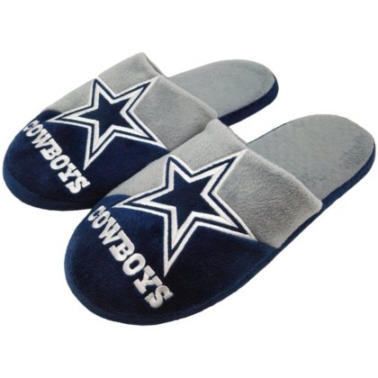 Dallas Cowboys Youth Colorblock Slippers - Size (Nfl Slippers For Kids)