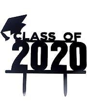 قطعة واحدة من قبعة Mainstayae لعام 2020 لحفلات التخرج من الأكريلك وحفلة التخرج لتزيين الكعك