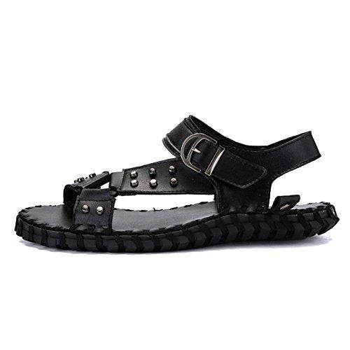 Uomo 3 Nero Dimensione EU CM Comfort 5 Comfort Traspirante Sandali Wagsiyi 2 spiaggia Da Colore 27 0 Nero In 40 24 Scarpe pantofole Antiscivolo da Pelle wgpRqHRnI