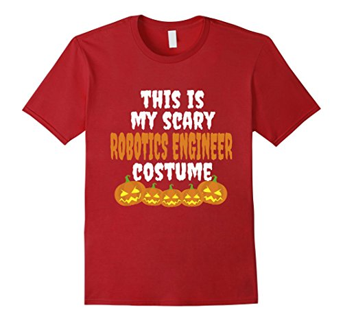 And Guy Girl Costumes Friend Best (Mens My scary Robotics Engineer costume funny Halloween tshirt 2XL)