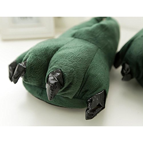 Soft Super Female Slippers Shoes Eastlion Cartoon Warm Plush Color Winter Claws Dinosaurs Flannel Home 9 pqqx07HY