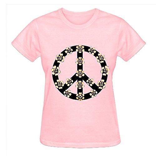 Peace Z2i Crew Neck T Shirt Women Pink