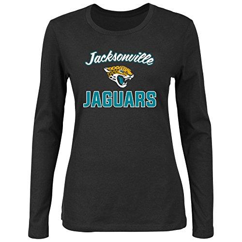 uars Women L/S SCOOP NECK TEE, BLACK, 2X (Jaguar Womens Long Sleeve)