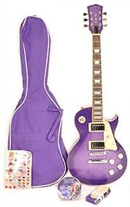 Gypsy Rose – Guitarra eléctrica – Pack elec. les paul Violet GGY gre2 ...