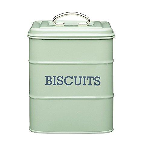 Tin Cookie Jar - Kitchen Craft Living Nostalgia Vintage Style Airtight Biscuit Cookie Tin English Sage Green - 14.5cm x 19cm 6