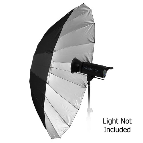 "Fotodiox Pro 16-rib, 60"" Black and Silver Reflective Parabolic Umbrella"