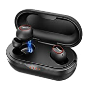 #LightningDeal Wireless Earbuds, Mpow Bluetooth Earbuds Featured Aptx Sound w/Bass, IPX7 Sports Wireless Earbuds w/35 Hrs Charging Case/CVC 8.0 Noise Cancelling Mic/Button Control/Compact & Comfort Design,Black