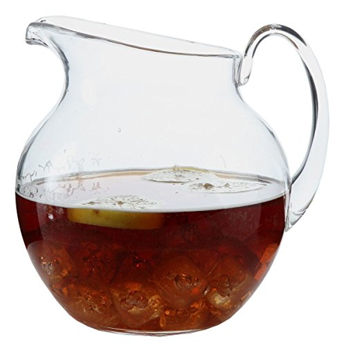 Lily's Home Shatterproof Plastic Indoor Outdoor Pitcher Large Capacity 110 Ounce - Clear Glass Sangria