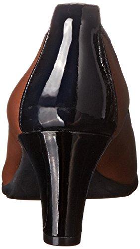 Rockport Womens Total Motion Melora Captoe Dress Pump Black / Nutella Burnished Calf