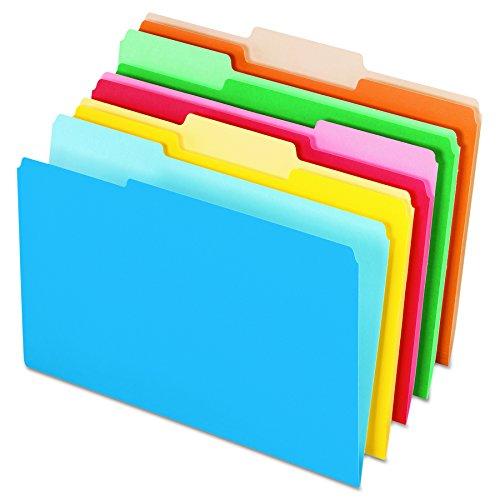 Pendaflex 435013ASST Interior File Folders, 1/3 Cut Top Tab, Legal, Bright Assorted (Box of 100)