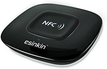 El receptor de Bluetooth de Esinkin, el adaptador de audio de Bluetooth (NFC) es adecuado para el sistema de sonido estéreo con Largo Alcance y Superior Acústica
