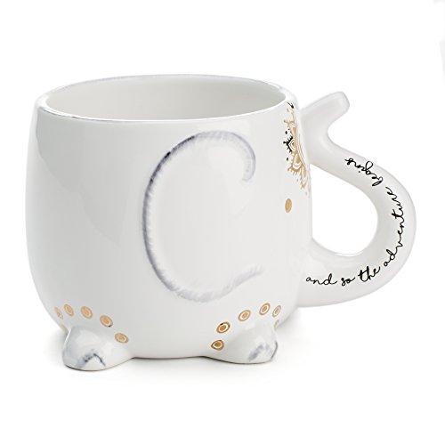 White Ceramic Coffee or Tea Mugs: Tri-Coastal Design Soho Bo