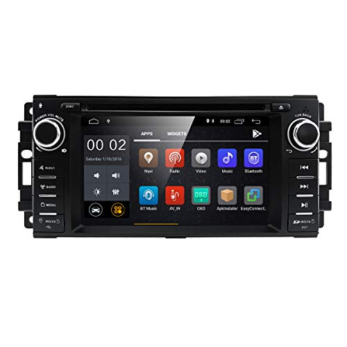 Android 7.1 Car Stereo CD DVD Player - in Dash Car Radio Multimedia Player Navigation System with 6.2