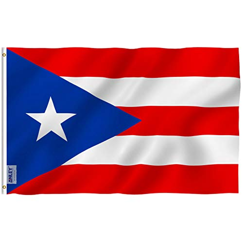 Anley Fly Breeze 3x5 Foot Puerto Rico Flag - Vivid Color and UV Fade Resistant - Canvas Header and Double Stitched - Puerto Rican National Flags Polyester with Brass Grommets 3 X 5 Ft (The Best Of Puerto Rico)