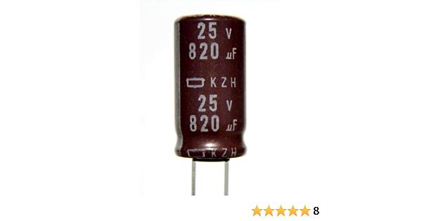 820uF 6,3V 105°C Condensatore Polimerico Nippon PSC Super Low ESR 2 pcs