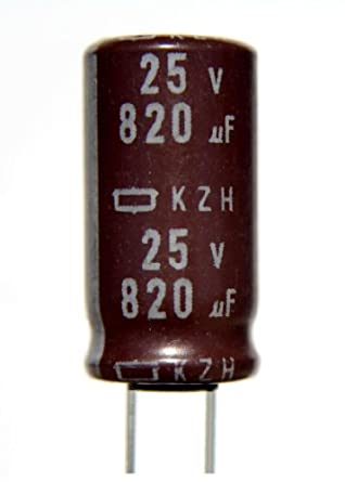 Nippon Chemi-Con 390uF 25 Volts Radial Leads Electrolytic Capacitor USA Seller