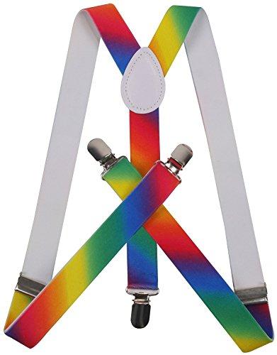 ORSKY suspenders for women mens suspenders rainbow suspenders Rainbow (Suspenders Rainbow)