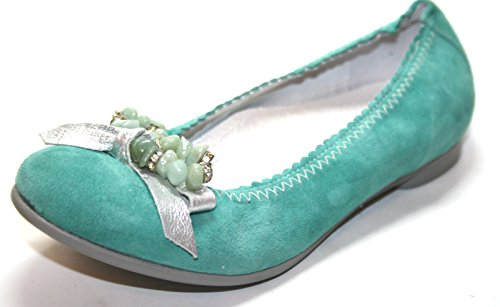 Cherie , Ballerines pour fille Turquoise Turquoise