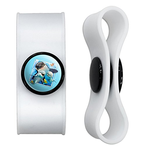 Ocean Selfie Picture Orca Killer Whale Dolphins Headphone Earbud Cord Wrap - Charging Cable Manager - Wire Organizer Set of 2 - White (Whale Cord Keeper)