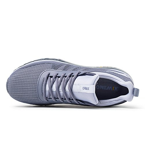 Sports Shoes Women Cushion ONEMIX Running Air Casual and Darksilver Walking Sneakers for Men a4O4EqnP