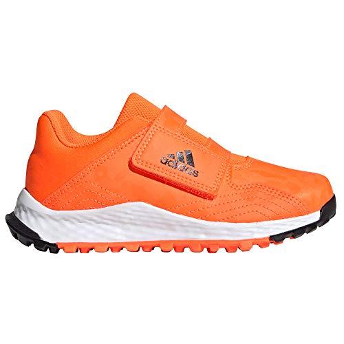 adidas Youngster Junior Boys Astro Field Hockey Trainer Shoes Orange