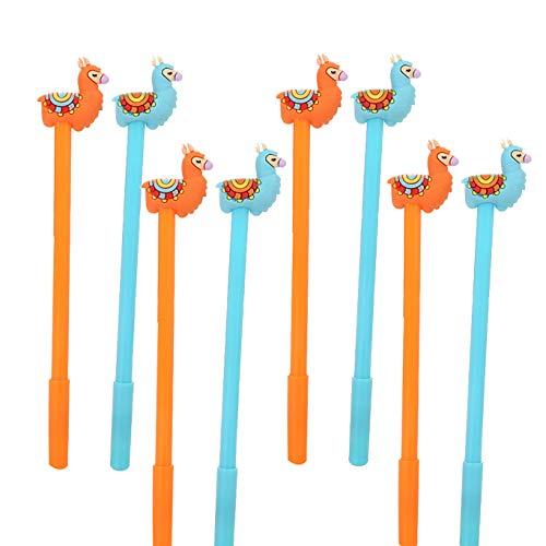 WIN-MARKET Animal Sheep Camel Gel Pens Set Fashion Cute Colorful Kawaii Lovely Gel Ball Pens Llama Gel Ink Rollerball Pens Office School Stationery pen(8PCS)