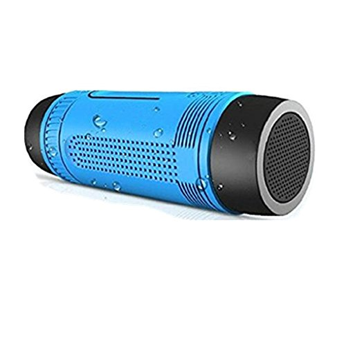 Portable Multifuctional Outdoor Bluetooth wireless Speaker Sport NFC Waterproof Shockproof Dustproof Bluetooth Speakers Deep Bass Subwoofer Sound 4000mAh Battery & TF Card Slot with Microphone by ZHAOCAI
