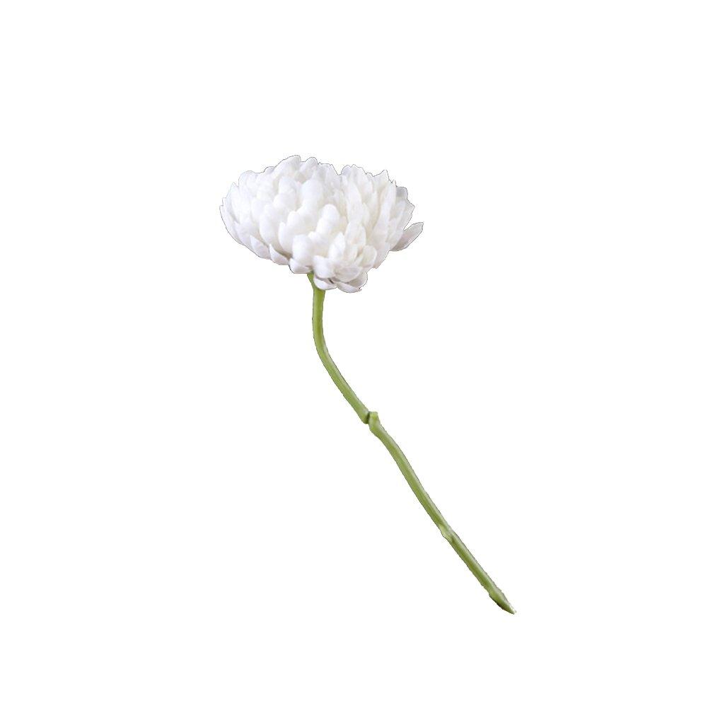 鮮やかな造花 菊 造花 結婚式 小道具 ブーケ パーティー ホームデコレーション 1個 ホワイト 15283 B07GS38LFG ホワイト