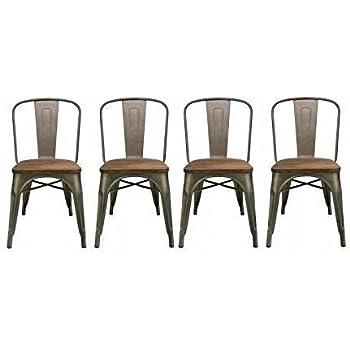 Amazon.com - BTExpert Industrial Metal Wood Top Vintage