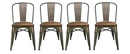 Pleasant Amazon Com Btexpert Industrial Metal Vintage Tabouret Squirreltailoven Fun Painted Chair Ideas Images Squirreltailovenorg