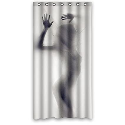 Cool Silhouette Shadow Bath Curtain