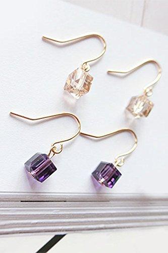 Womens Sugar Cube - Generic European minimalist stylish _new ear Nail earrings women girl _small_sugar_cubes_long,_quality ear pendant necklace earrings Earring eardrop _circle_wild_ earrings