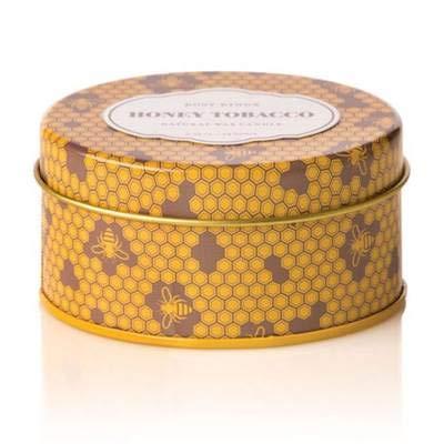Rosy Rings Honey Tobacco Botanical Signature Travel Tin Candle