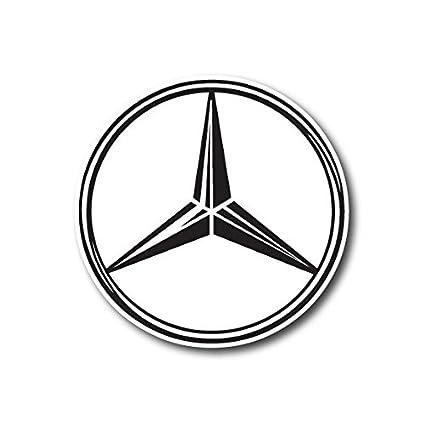 Mercedes Benz Symbol >> Amazon Com Mercedes Benz Logo Sticker Decal For Car Window