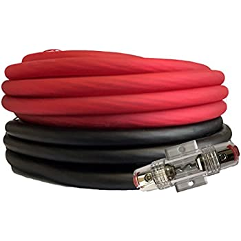 Amazon knukonceptz kca kandy kable neon green 4 gauge power soundbox connected 4 gauge red black amplifier amp powerground wire set 50 feet superflex cable 25 each agu fuse holder keyboard keysfo Gallery