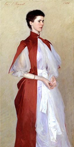 ['John Singer Sargent - Portrait Of Mrs Robert Harrison,1886' Oil Painting, 12x24 Inch / 30x60 Cm ,printed On High Quality Polyster Canvas ,this Beautiful Art Decorative Prints On Canvas Is Perfectly Suitalbe For Gym Artwork And Home Decor And] (80s Singers Costumes)