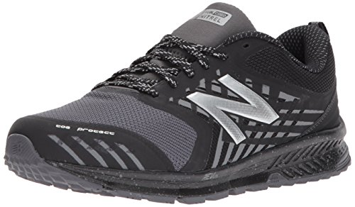 New Balance Men's Nitrel v1 FuelCore Trail Running Shoe, Black/Grey, 10 4E US