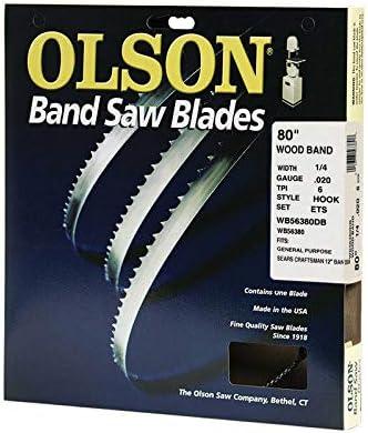 "80/"" Olson Wood Band Band Saw Blade 1//8/"" .018/"" 8 HOOK WB50880DB Made In USA"