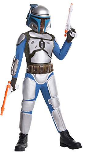[Star Wars Deluxe Child's Jango Fett Costume, Large] (Awesome Boy Halloween Costumes)