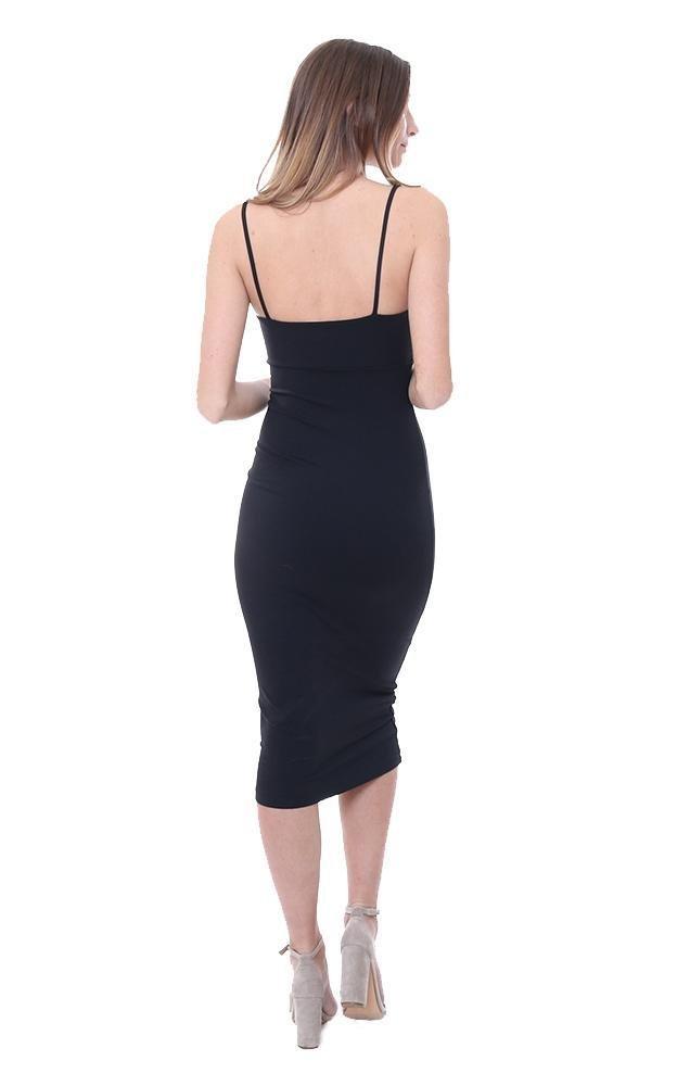 Susana Monaco Dresses Bow Midi Black Dress - Black - S by Susana Monaco (Image #4)