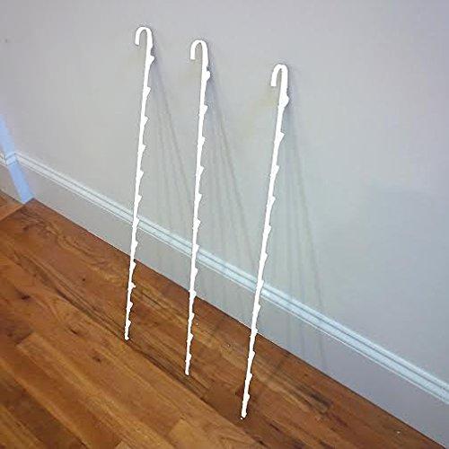 3 Single Strip 12 Clip Hanging Potato Chip, Candy & Snack Display Rack (White)